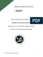 MODULO DESARROLLADO - TEORIA DE DECISIONES