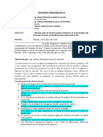 Informe  sobre observación de instrumento