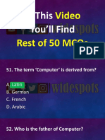 Computer and ms office last 50 mcqs pdf