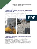 MANTENIMIENTO CORRECTIVO DE INSTACIONES ELECTRICAS EN EL MERCADO JORGE CHAVEZ