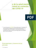 COVID 19 PSICOLOGIA