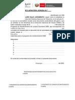 FORMATO DECLARACION JURADA