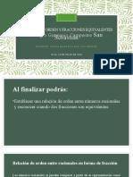 Relacion de orden y fracciones equivalentes