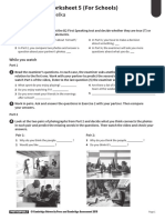 Complete First for Schools Second Edition - B2 Speaking worksheet 2 (For Schools)