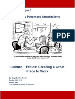 Culture + Ethics- Creating a Great Place to Work