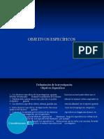 Presentación 10 (Objetivos Específicos)