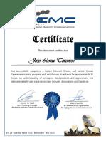 Certífícate EMC Satlink Network Operations Joe Loza.pdf