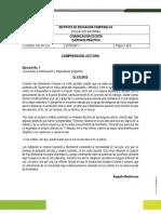 EJERCICIO PRÁCTICO COMPRENSIÓN LECTORA GRUPO 01