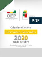 Calendario Electoral 18octubre