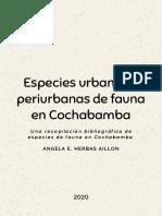 Especies urbanas y periurbanas de fauna en Cochabamba.pdf