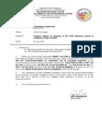 Progress Report -  RA 9165 -