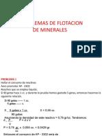 PROBLEMAS DE FLOTACIÓN DE MINERALES