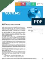 10 a 14. Bioética. A Psicologia e a ética com a vida. Conselho Regional de Psicologia de São Paulo.pdf