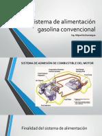 Sistema de alimentación gasolina convencional