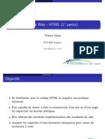 Cours Web - HTML (1 partie)