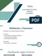 Aleaciones de metal forjado (2)
