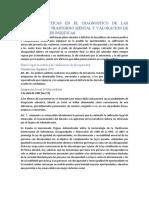 CUESTIONES ETICAS EN EL DIAGNOSTICO DE LAS PERSONAS CON TRASTORNO MENTAL Y VALORACION DE DISCAPACIDADES PSIQUICAS