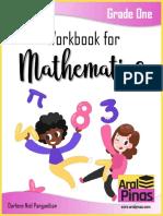 Workbook for Mathematics_Grade 1 from the internet