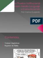 Repaso Prueba Institucional Nivel Primero Medio Lenguaje y.ppt