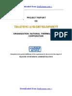 NTPC Training & Development - MBA HR Summer Training Project Report PDF Download
