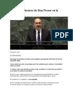 Magistral Discurso de Ron Prosor en la ONU