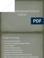 Eco of Educ-Organizational Culture