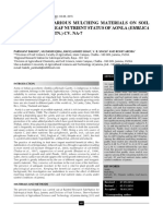 response of mulching on nutrient status in soil and leaf nutrient of aonla