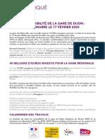 MISE EN ACCESSIBILITÉ DE LA GARE DE DIJON _  LE CHANTIER DÉMARRE LE 17 FÉVRIER 2020