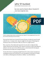 Vitamin D Myths 'D'-bunked _ Stories at Yale Medicine
