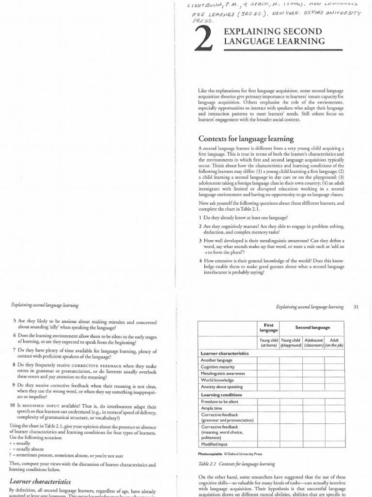 The Study Of Second Language Acquisition Pdf