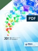 2013 Public Programs Schedule