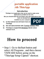 Make a portable application with ThinApp