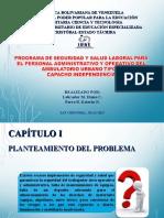 DEFENSA TESIS PROGRAMA DE SEGURIDAD Y SALUD LABORAL PARA EL PERSONAL ADMINISTRATIVO Y OPERATIVO