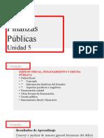 Unidad 5 Finanzas Públicas