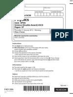 January 2012 QP - Paper 1P Edexcel Physics IGCSE