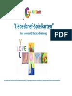 """ABCDirekt """"Liebesbrief Spielkarten"""" für Lesen und Rechtschreibung"""