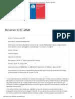 SUSESO_ Normativa y jurisprudencia - Dictamen 1233-2020