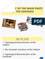 TYPOLOGY OF THE MAIN PARTS OF THE SENTENCE
