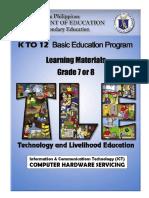 Entrep–based PC Hardware Servicing Learning Module