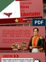 Los valores eticos de Simon Bolivar