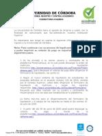 PROCESO DE LIQUIDACION DE MATRICULA