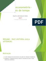 Macroeconometria_Aula 5_ Fausto Vieira