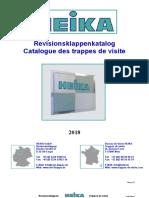 Catalogue des trappes de visite Heika