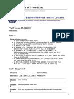 201920 Indian Customs Tariff AntiDumping Duty Compendium  as on 31-3-2020