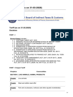 201920 Indian Customs Tariff Schedule Compendium as on 31-3-2020
