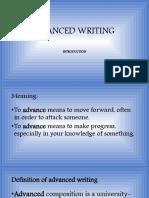 ADVANCED WRITING LECT 2