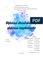Sistema respiratorio y sistema circulatorio.