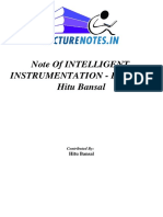 Note of INTELLIGENT INSTRUMENTATION - B.Tech for B.Tech of AKTU, LUCKNOWElectrical Engineering - EE.pdf