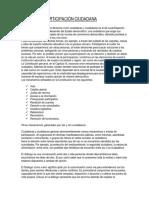 FORMAS DE PARTICIPACION DEMOCRATICA
