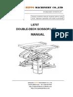 DOUBLE-DECK SCISSOR LIFT LS707 Manual